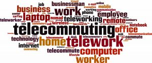 telecommuting, word cloud